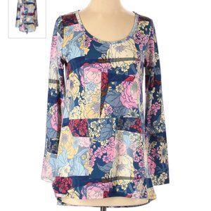 Lularoe floral patchwork t-shirt